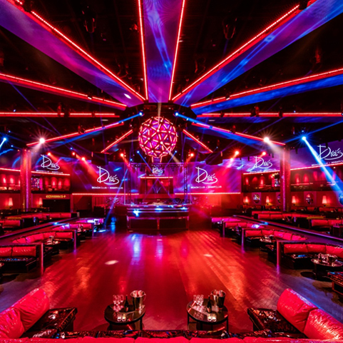 Drais night Club Las Vegas VIP Access provided by Entourage Entertainment